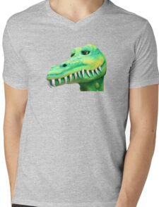 T Shirt Crocodile  Mens V-Neck T-Shirt