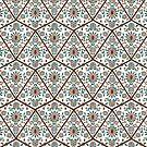 Geometric Deco Floral by Paula Belle Flores
