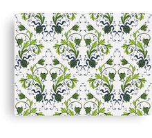 Elegance Seamless pattern with flowers ornament Canvas Print