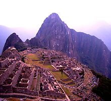 Morning over Machu Picchu by Elaine Stevenson