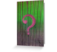 Riddle Me This? Greeting Card