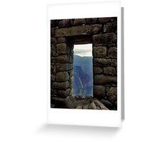 Inca Doorway Greeting Card
