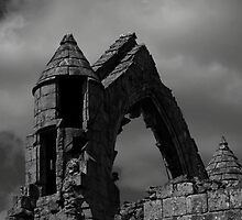 Haughmond Abbey Turret by David J Knight