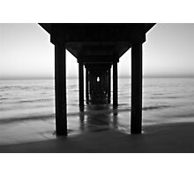 Under Brighton Jetty Sunset,  South Australia  Photographic Print