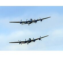 2 Lancasters in Formation Photographic Print
