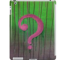 Riddle Me This? iPad Case/Skin
