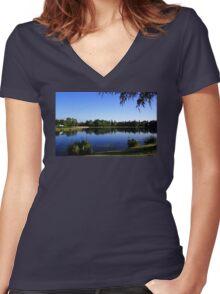 Celebration Lake Women's Fitted V-Neck T-Shirt