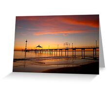 Brighton Jetty Sunset,  South Australia  Greeting Card