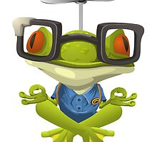 Yoga Frog In Glasses by kwg2200
