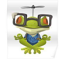 Yoga Frog In Glasses Poster