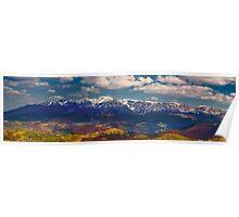 Mountains landscape Poster