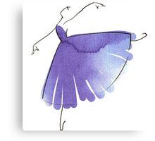 ballerina figure, watercolor Canvas Print