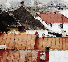Ploesti Roofs. Romania by Nikolay Semyonov