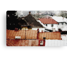 Ploesti Roofs. Romania Canvas Print