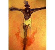 Jesus on the Cross orange tint Photographic Print