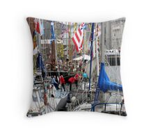 Masts and Rigging Throw Pillow