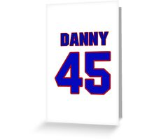 National Hockey player Danny Lorenz jersey 45 Greeting Card