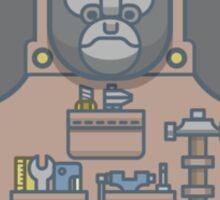 Hard-Working Gorilla Sticker