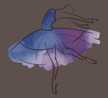 ballerina figure, watercolor Kids Clothes