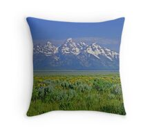 Grand Teton Range Throw Pillow