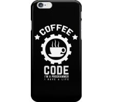 Programmer : Coffee and Code iPhone Case/Skin