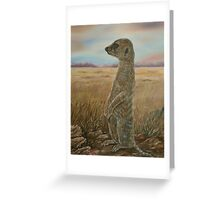 """Meerkat Sentry"" - Oil Painting Greeting Card"