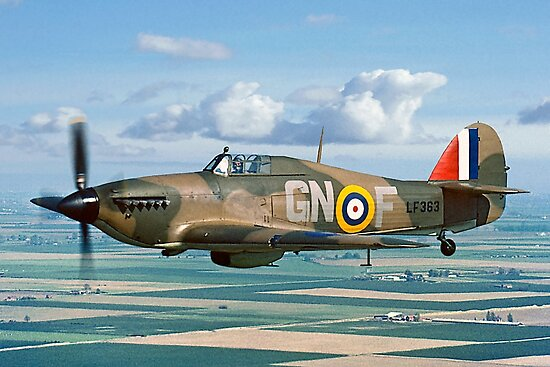Hurricane IIc LF363 over the Fens by Colin Smedley