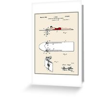 Surfboard Patent - Colour Greeting Card