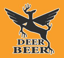 Deer beer t-shirt by valizi