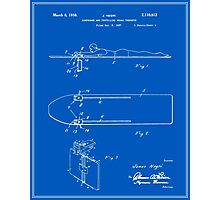 Surfboard Patent - Blueprint Photographic Print