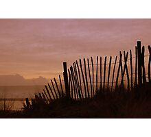 Fence, Westward Ho!, Devon. Photographic Print