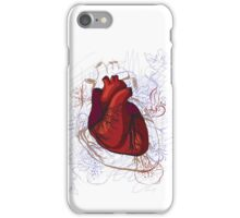 drawing of the heart, anatomical iPhone Case/Skin