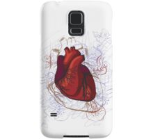 drawing of the heart, anatomical Samsung Galaxy Case/Skin