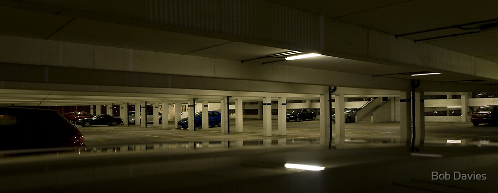 Underground Car Parking Facility at Night by Rob Davies