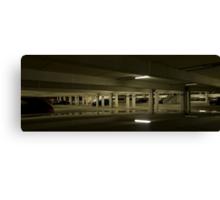 Underground Car Parking Facility at Night Canvas Print