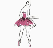 sketch of girl's ballerina  Kids Tee