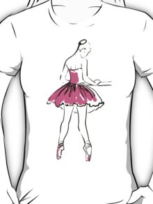 sketch of girl's ballerina  T-Shirt