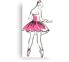 sketch of girl's ballerina  Canvas Print