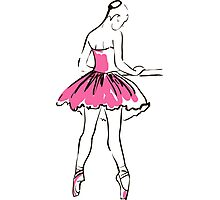 sketch of girl's ballerina  Photographic Print