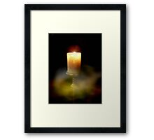 Candle of Peace Framed Print