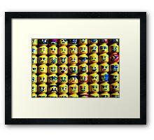 The Face of Lego Framed Print