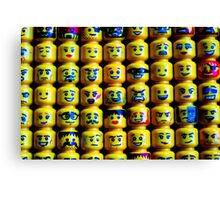 The Face of Lego Canvas Print