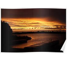 Sunset On The St. Lawrence Poster