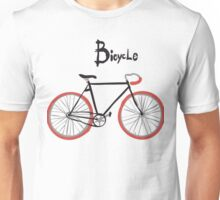 illustration of  vintage bicycle Unisex T-Shirt