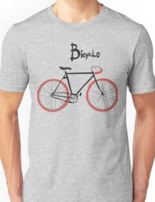 illustration of  vintage bicycle Unisex T-Shirt