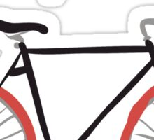 illustration of  vintage bicycle Sticker