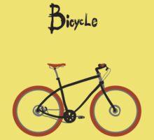 illustration of  vintage bicycle Kids Tee
