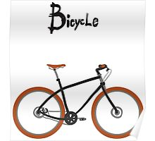 illustration of  vintage bicycle Poster