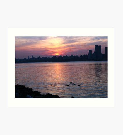 Hudson River Sunrise Art Print