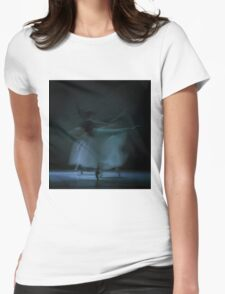 Performance in White Womens Fitted T-Shirt